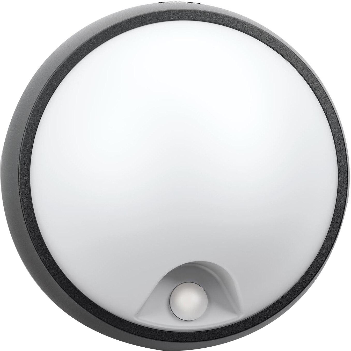 Fotografie Aplica LED integrat pentru exterior Philips myGarden Eagle, cu senzor miscare, 1x3.5W, 320 lm, IP44, Negru