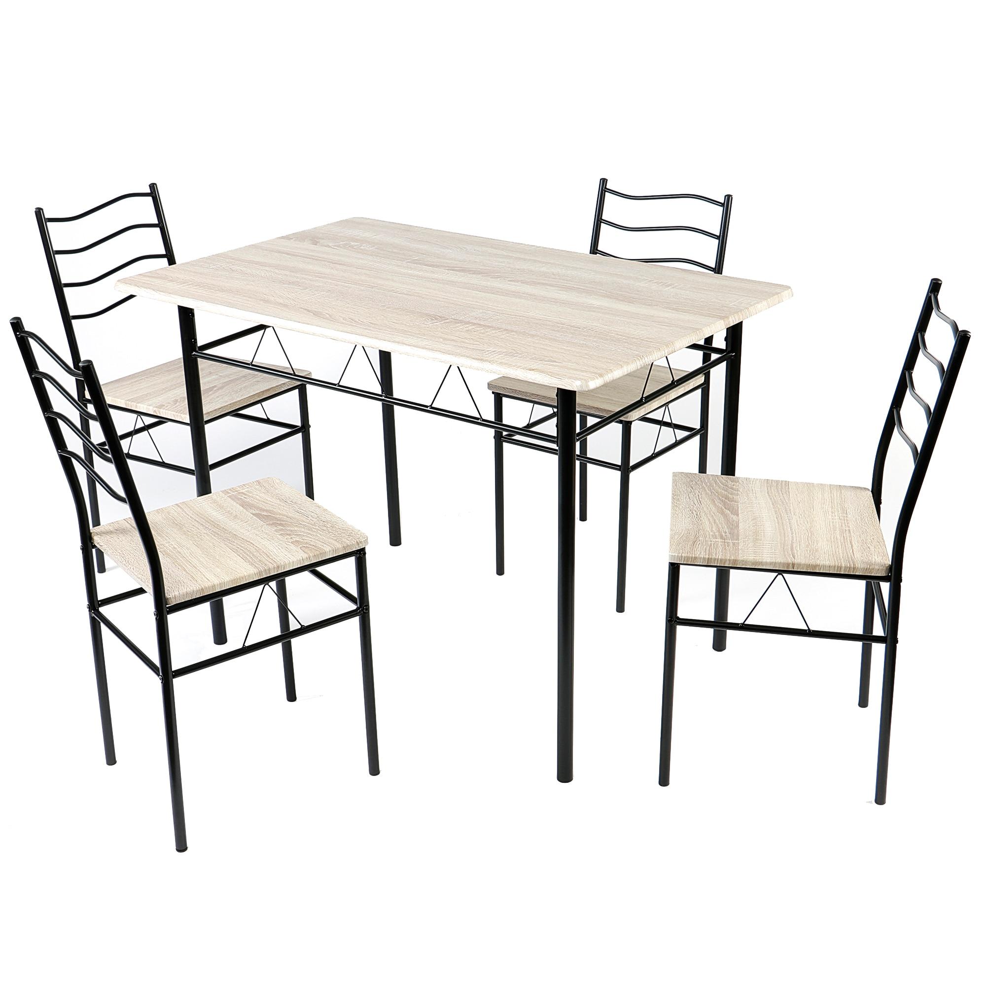 Fotografie Set masa si scaune bucatarie Kring Prague, 110x70x75 cm, Negru/Ferrara