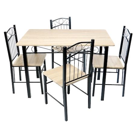 Комплект мебели Kring Munchen, Dining : Маса + Столове, 4 бр, 110x70x75 cм