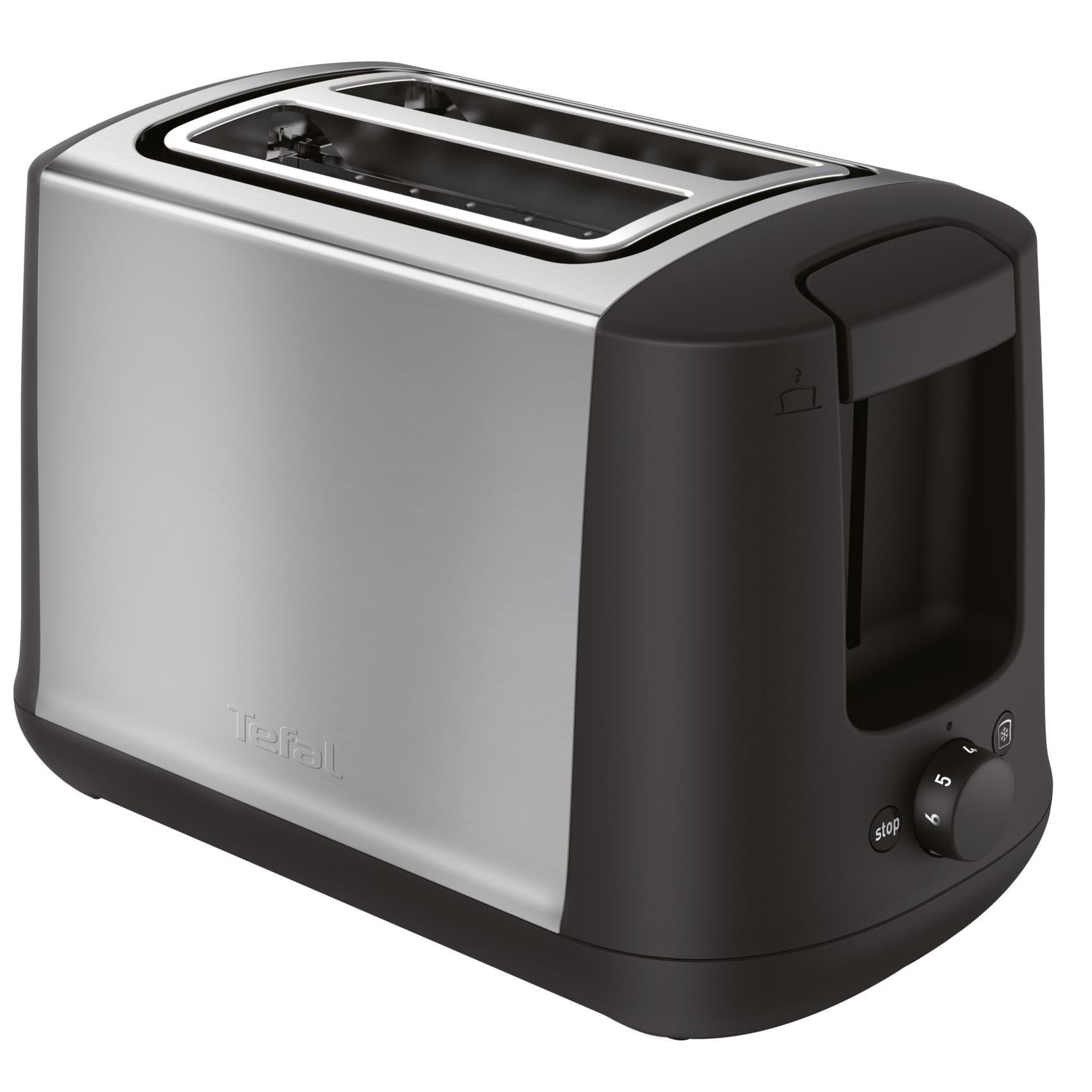 Fotografie Toaster Tefal Confidence TT340830, 850W, 7 niveluri de rumenire, Inox
