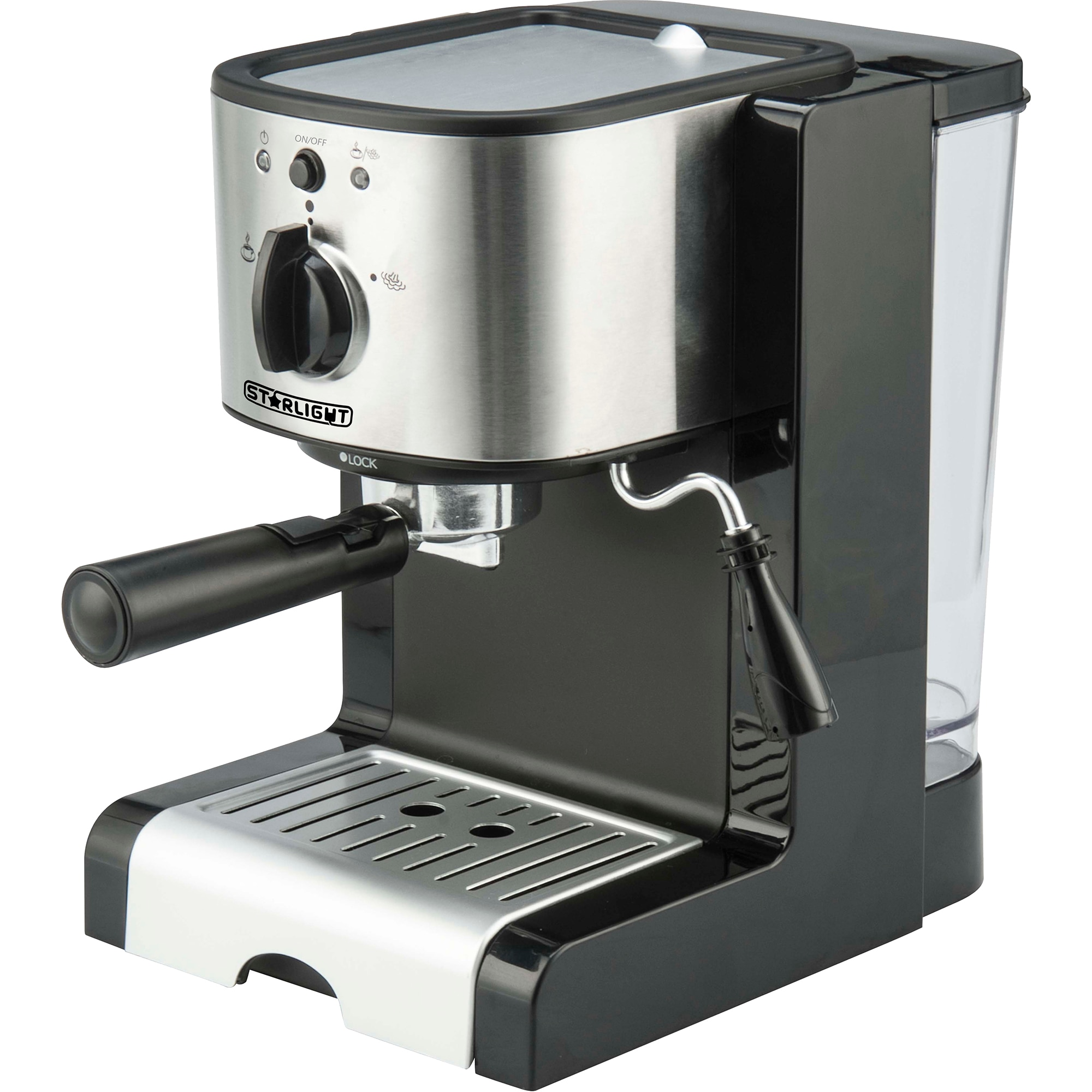 Fotografie Espressor manual Star-Light EMD-1515, 15 Bar, Dispozitiv spumare, 1.5 l, Negru/Inox