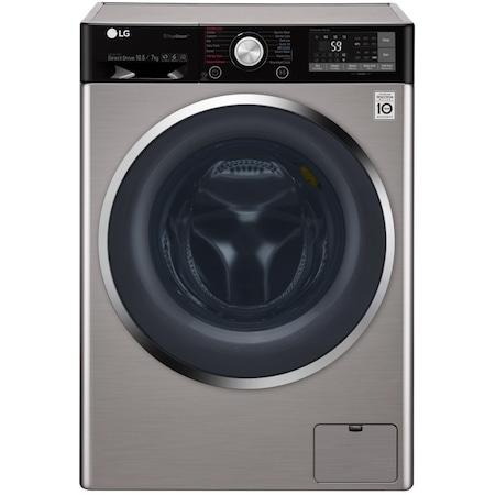 LG F4J9JH2T gőz mosó-és szárítógép, TrueSteam, Ecohybrid, Direct Drive, 10.5 kg töltet (mosás), 7 kg töltet (szárítás), 1400 f/p, A energiahatékonysági osztály, Inox