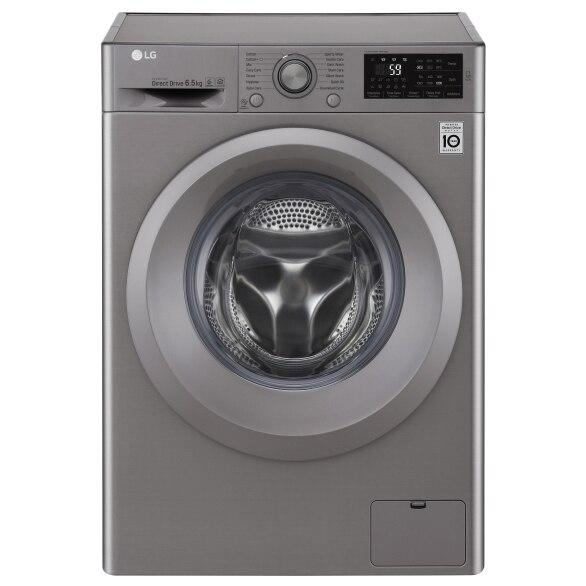 Fotografie Masina de spalat rufe Slim LG F2J5WN7S, Direct Drive, 6.5 kg, 1200 RPM, Clasa A+++, 45 cm, Argintiu