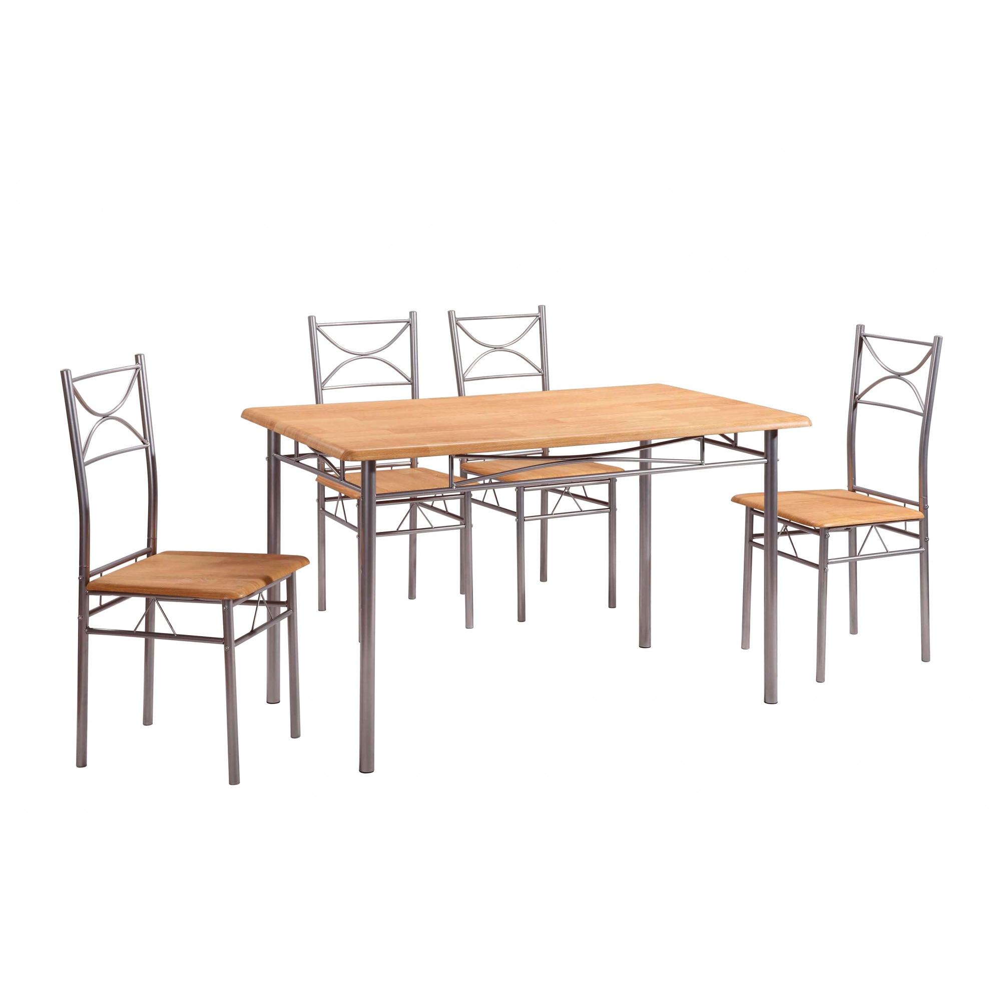 Fotografie Set masa Vera cu 4 scaune, natur