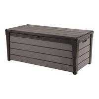 Многофункционален шкаф за съхранение Keter Brushwood, 454 л, 145x69,7x60,3 см, Кафяв