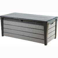 Шкаф за съхранение Brushwood, 455 л, 69.7x145x60.3 см, Антрацит/Сив