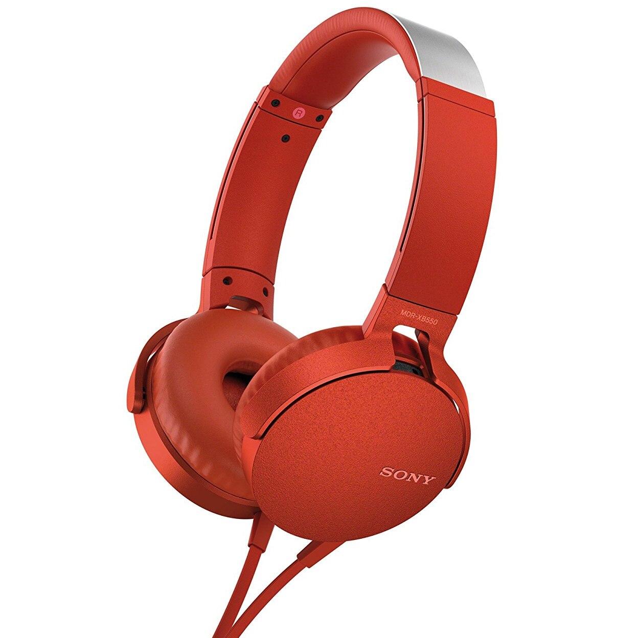 Fotografie Casti On Ear Sony MDRXB550APR, Cu fir, Rosu