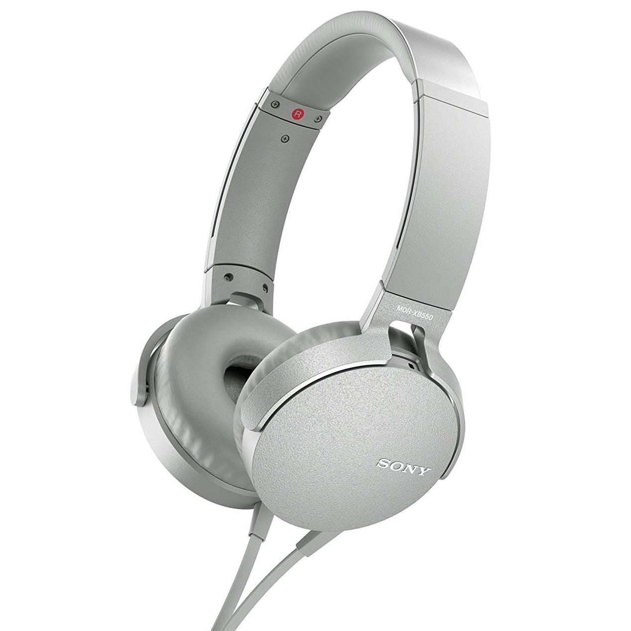 Fotografie Casti audio Sony MDRXB550APW, EXTRA BASS, Difuzor neodim 30mm, Alb