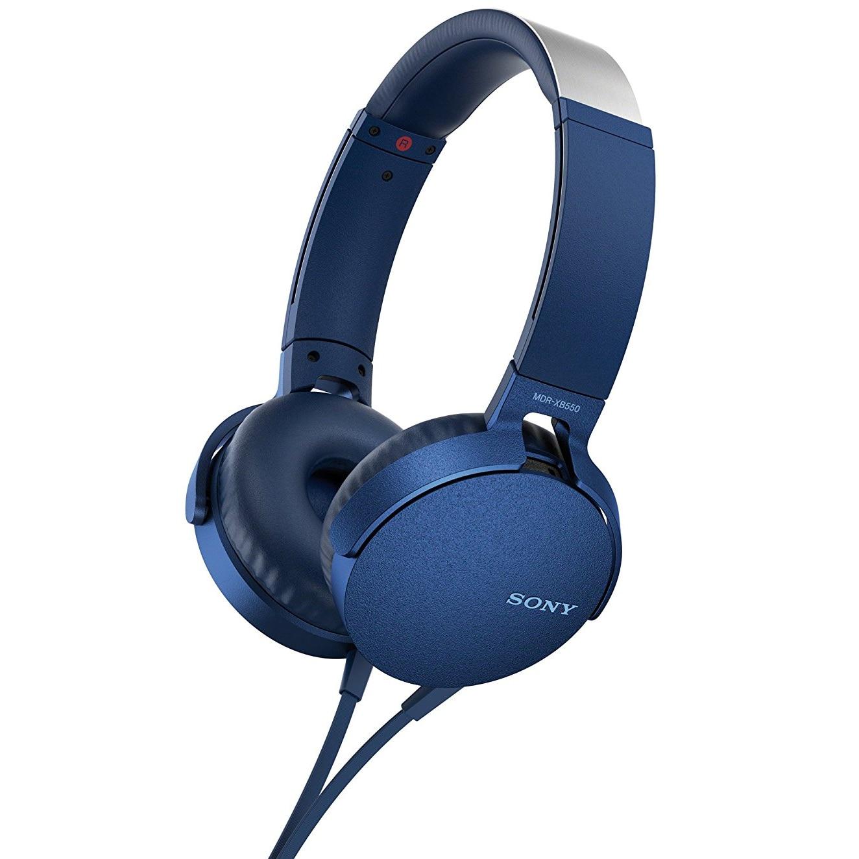 Fotografie Casti audio Sony MDRXB550APL, EXTRA BASS, Difuzor neodim 30mm, Albastru