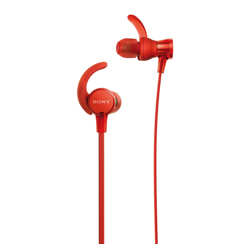 Fotografie Casti audio Sony Sport MDRXB510ASR, EXTRA BASS, Microfon, Rezistente la stropire, Rosu