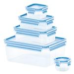 Tefal Clip&Close ételtároló doboz készlet, Műanyag, 5 darab: 0.15 l, 0.25 l, 0.55 l, 1.0 l, 3.7 l