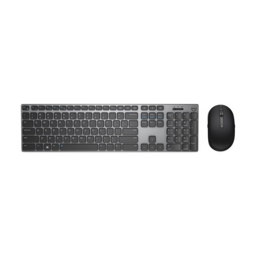 Fotografie Kit Tastatura + Mouse Wireless Dell Premier KM717, Gri