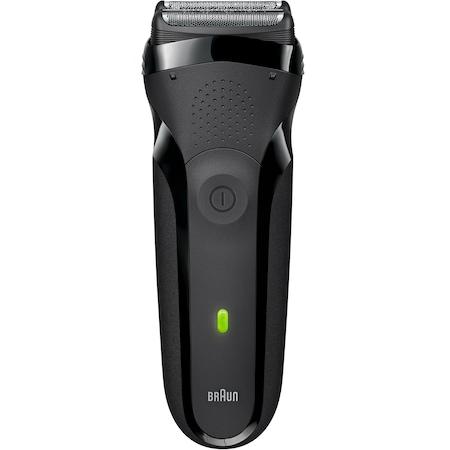 Braun Series 3 300s férfi borotva, 3 önállóan mozgó nyomásérzékeny vágóegység, vízálló, LED, Fekete