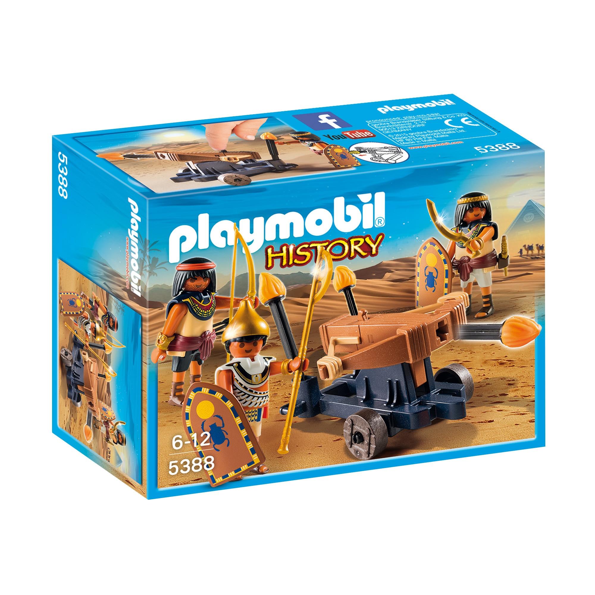 Fotografie Playmobil History - Trupe Egiptene Cu Catapulta