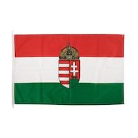 Magyar minőségi nemzeti címeres zászló 90x150cm
