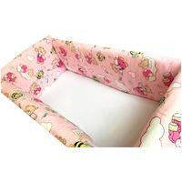 Maxi babaágy oldalvédő rögzíthető szett 120x60 cm Deseda Rózsaszín Medvék