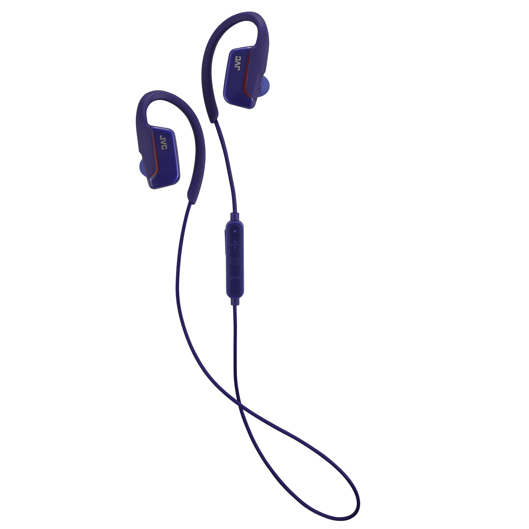 Fotografie Casti Bluetooth JVC, HA-EC30BT-AE, tip sport, Albastru
