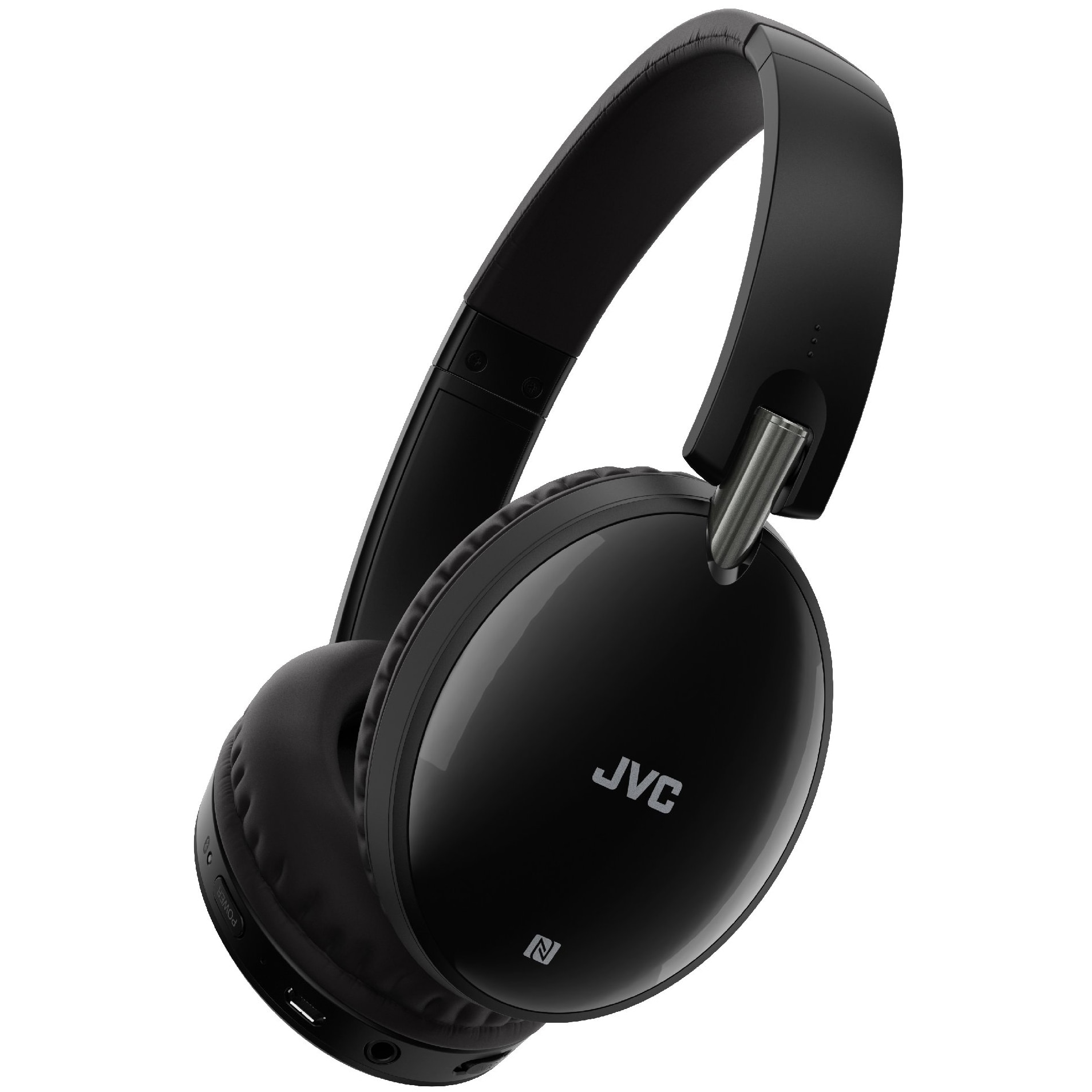Fotografie Casti Audio Over the Ear JVC HA-S90BN-B-E, Wireless, Bluetooth, Noise cancelling, Microfon, Autonomie 27 ore, Negru