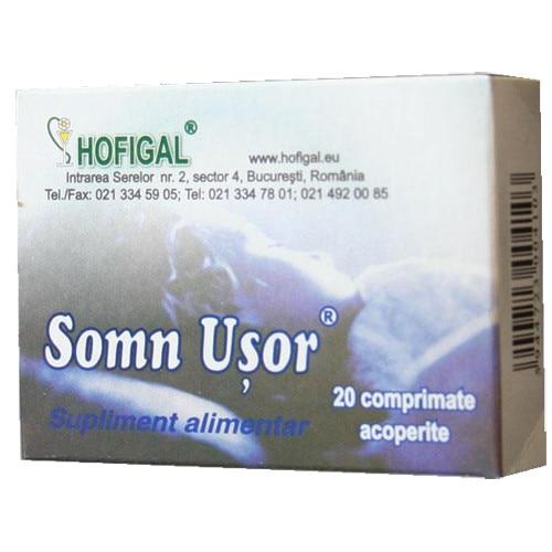 SOMN USOR - HOFIGAL, 20 comprimate (Insomnie) - coronatravel.ro