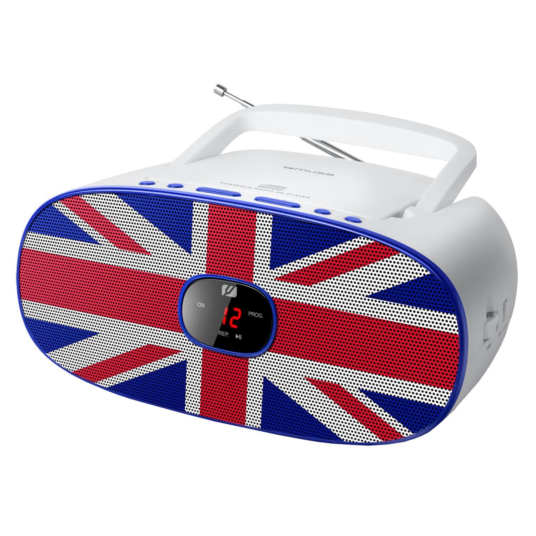 Fotografie Sistem audio portabil Muse MD-205 UK, LED, CD-Player, Radio, Alb