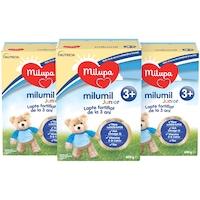 Pachet 3x lapte formula de continuare Milupa Milumil 3+, 600g, de la 3 ani, 1.8kg