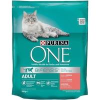 Суха храна за котки Purina One, Сьомга и пълнозърнести храни, 800 гр