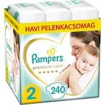 Pampers Premium Care Pelenka, 2-es Méret (Mini), 3-8 kg, 240 db, havi pelenkacsomag