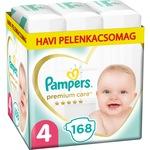 Pampers Premium Care Pelenka, 4-es Méret (Maxi), 9-14 kg, 168 db, havi pelenkacsomag