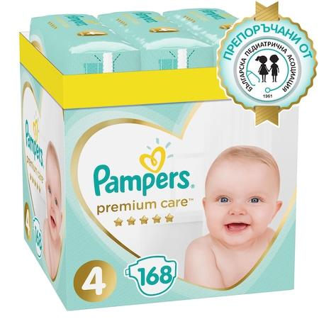 Пелени Pampers Premium Care XXL BOX 4, 8-14 кг, 168 бр