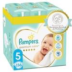 Scutece Pampers Premium Care XXL Box Marimea 5, 11- 16 kg, 136 buc