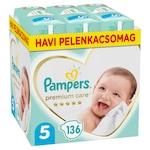 Pampers Premium Care Pelenka, 5-ös Méret (Junior), 11-16 kg, 136 db, havi pelenkacsomag