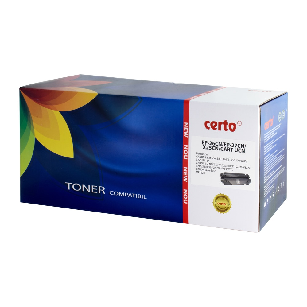 Fotografie Cartus toner Certo compatibil cu EP-27, 2500 pagini, Black