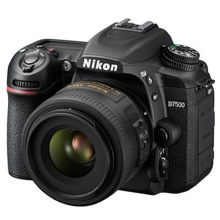 Aparat Foto DSLR Nikon D7500, 20.9 MP + Obiectiv 35mm f/1.8G