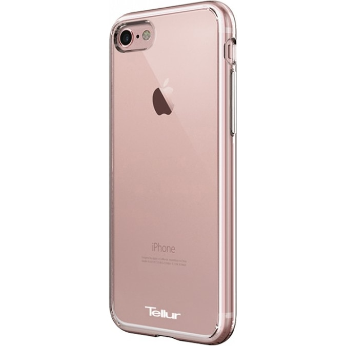 Fotografie Husa de protectie Tellur Premium Crystal Shield pentru iPhone 8 / iPhone 7, Roz