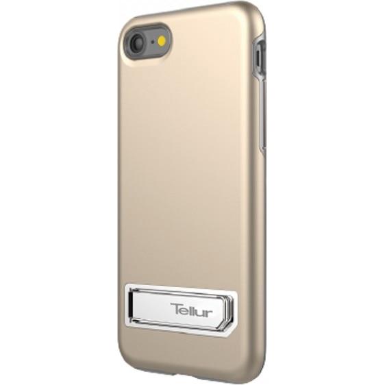 Fotografie Husa de protectie Tellur Premium Kickstand Ultra Shield pentru iPhone 8 / iPhone 7, Auriu