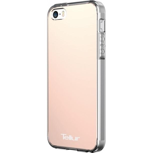 Fotografie Husa de protectie Tellur Premium Mirror Shield pentru iPhone SE, Roz