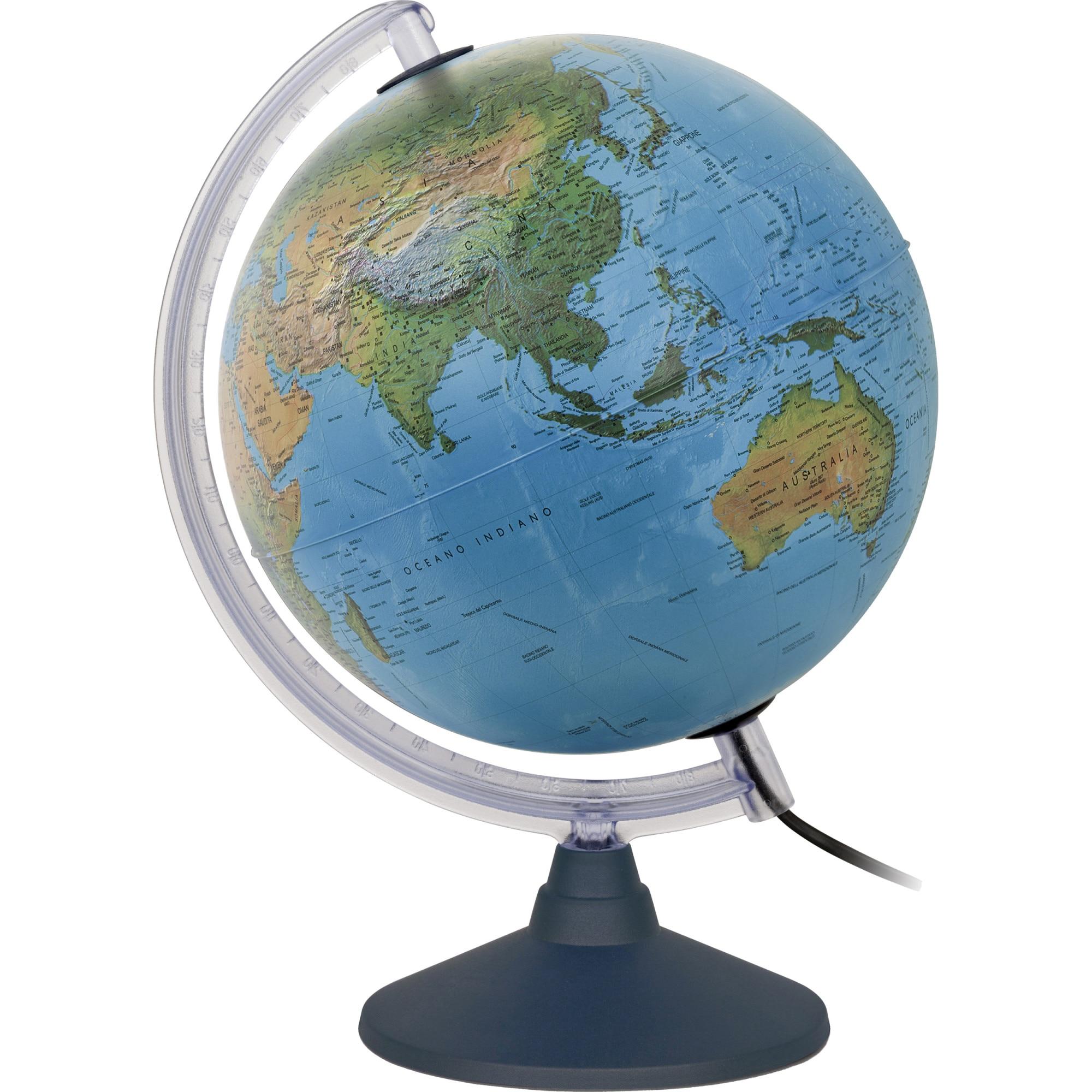 Fotografie Glob pamantesc iluminat Elite 25 cm cu harta fizica si politica, in limba romana