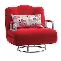 Сгъваем фотьойл Kring Abel, 85x80x90 cм, Червен