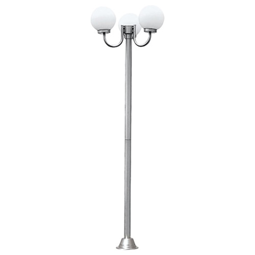 Fotografie Stalp iluminat exterior Horoz HL258P, 3x60W, E27, IP44, 190 cm, Crom