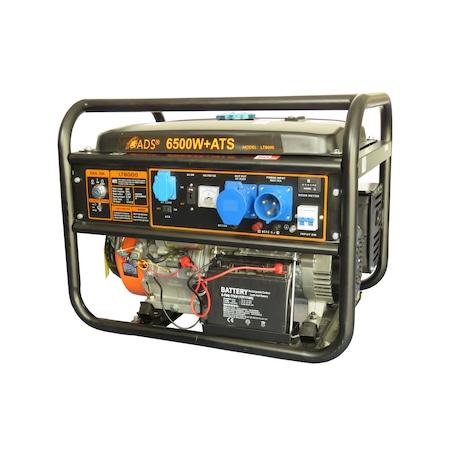 Generator de curent ADS LT6500, 6000W, automatizare incorporata, motor 4 timpi, autonomie 8h, benzina