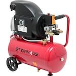 Въздушен компресор Steinhaus PRO-COM24, 24л, 1500W, 2CP, 8 бара, 206 л/мин
