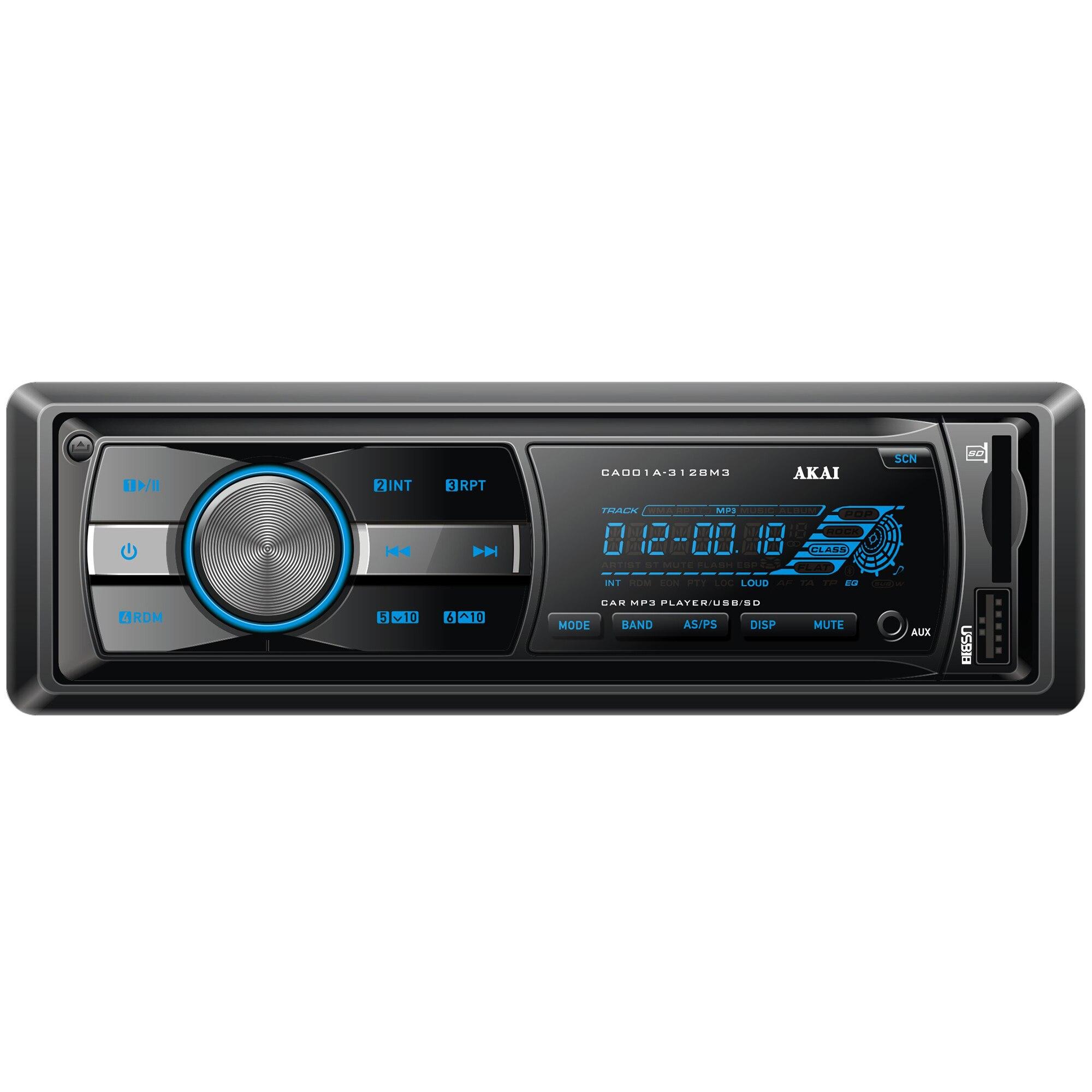 Fotografie Radio auto Akai CA001A-3128M3, 4x20W, USB, AUX
