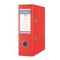 Biblioraft plastifiat DONAU Master A5, 7.5 cm, rosu