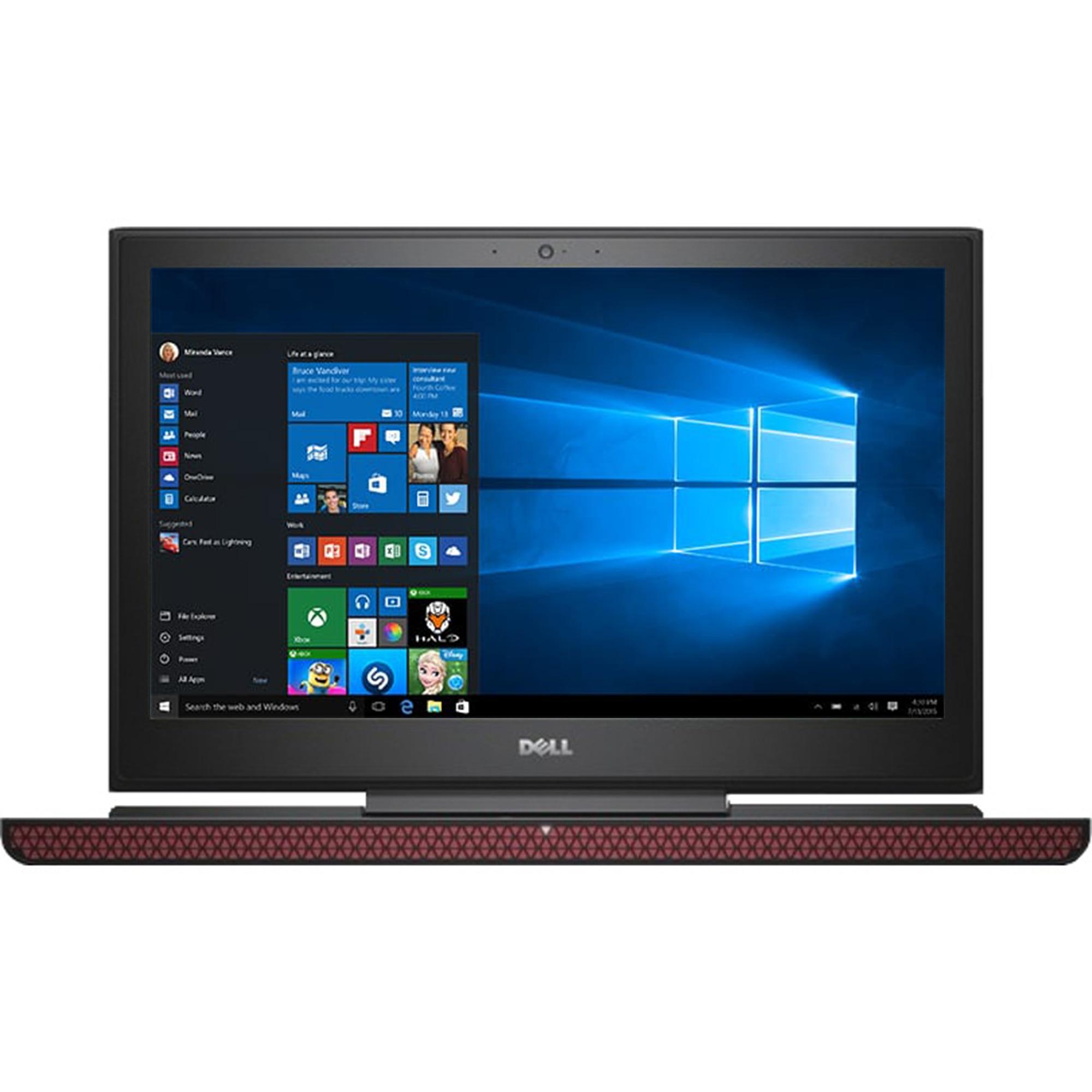 "Fotografie Laptop Gaming Dell Inspiron 7567 cu procesor Intel® Core™ i7-7700HQ 2.80 GHz, Kaby Lake™, 15.6"", UHD, 8GB, 1TB + 128GB SSD, nVIDIA GeForce GTX 1050 Ti 4GB, Microsoft Windows 10 Home, Black"