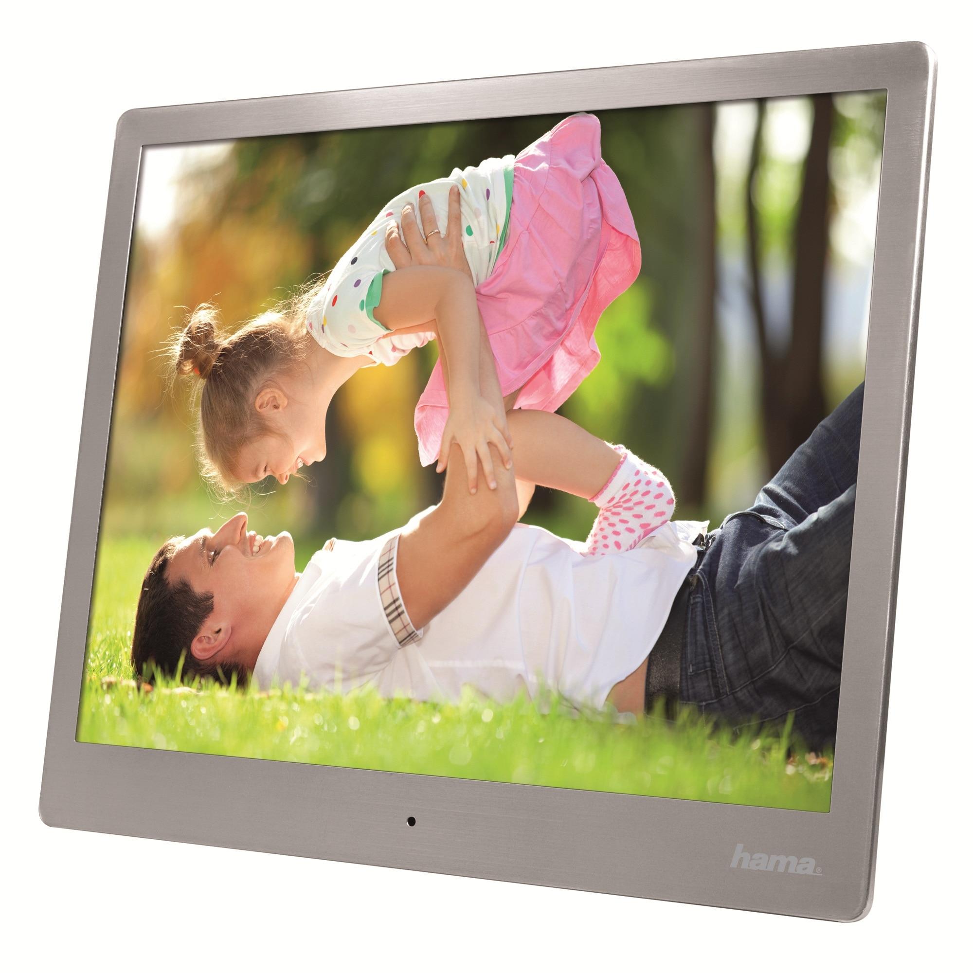 """Fotografie Rama foto digitala Hama Steel Premium, 9.7"""", Argintiu"""