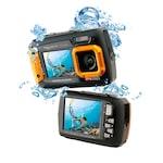 AquaPix W1400, Subacvatica, Portocaliu +32GB mSD si Husa