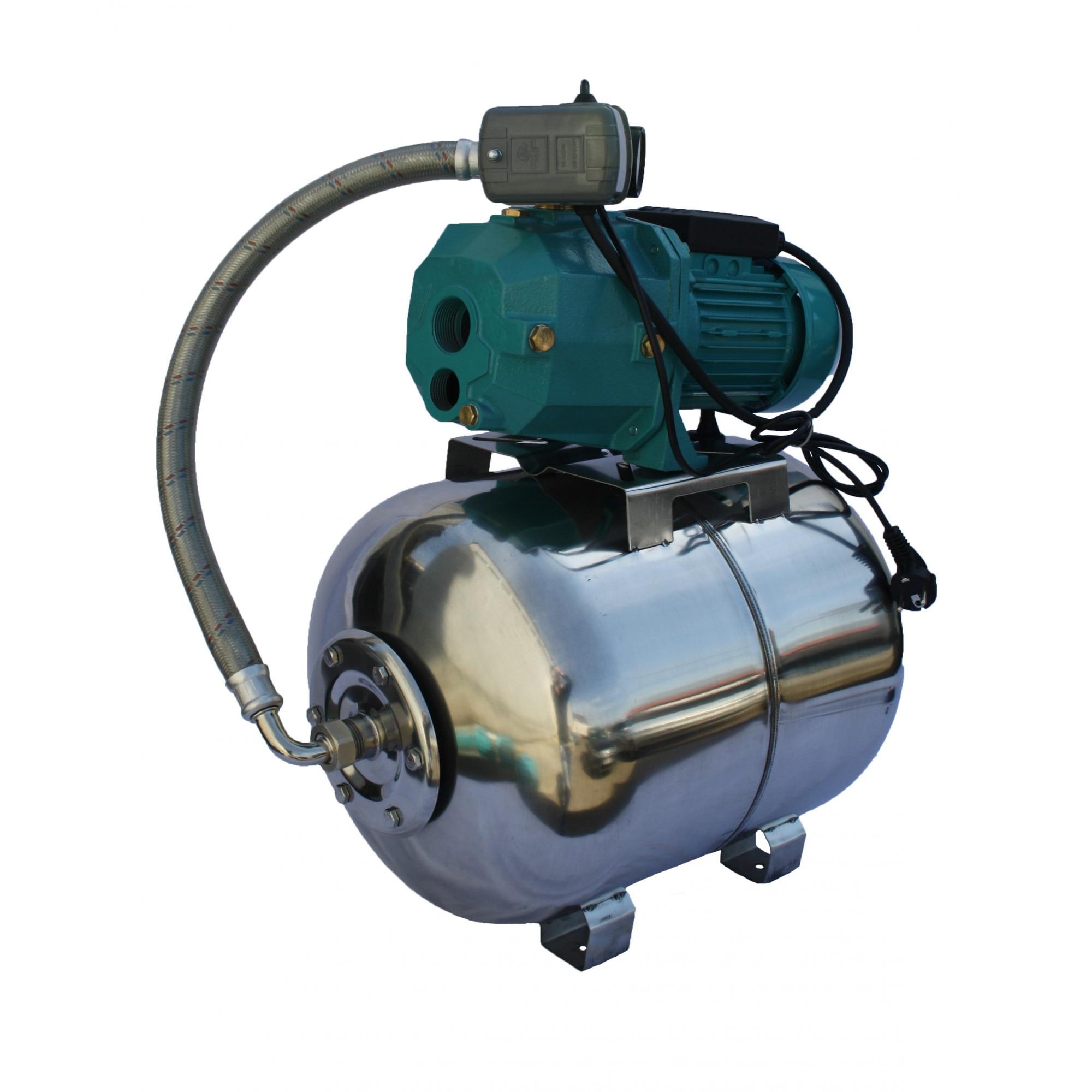 Fotografie Hidrofor apa curata de mare adancime cu ejector Omnigena OM5003/50I, 750 W, 50 l capacitate vas expansiune, 42 l/min debit maxim, 38 m inaltime refulare, 23 m adancime absorbtie