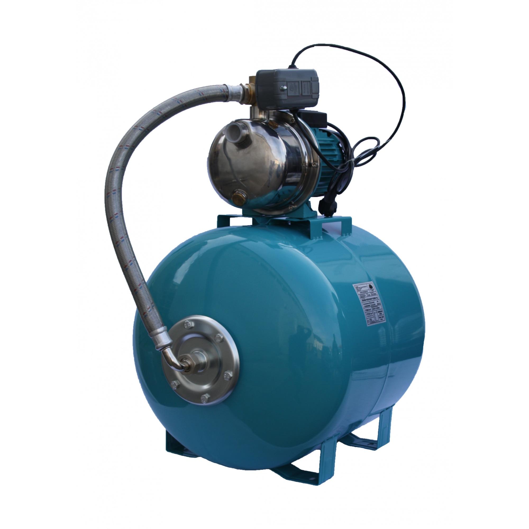 """Fotografie Hidrofor apa curata Influent Economic TS5005/100, 1100 W, 220 V, 100 l capacitate vas expansiune, 1"""" diametru racord, 3300 l/h debit maxim, 46 m inaltime refulare, 9 m adancime absorbtie"""