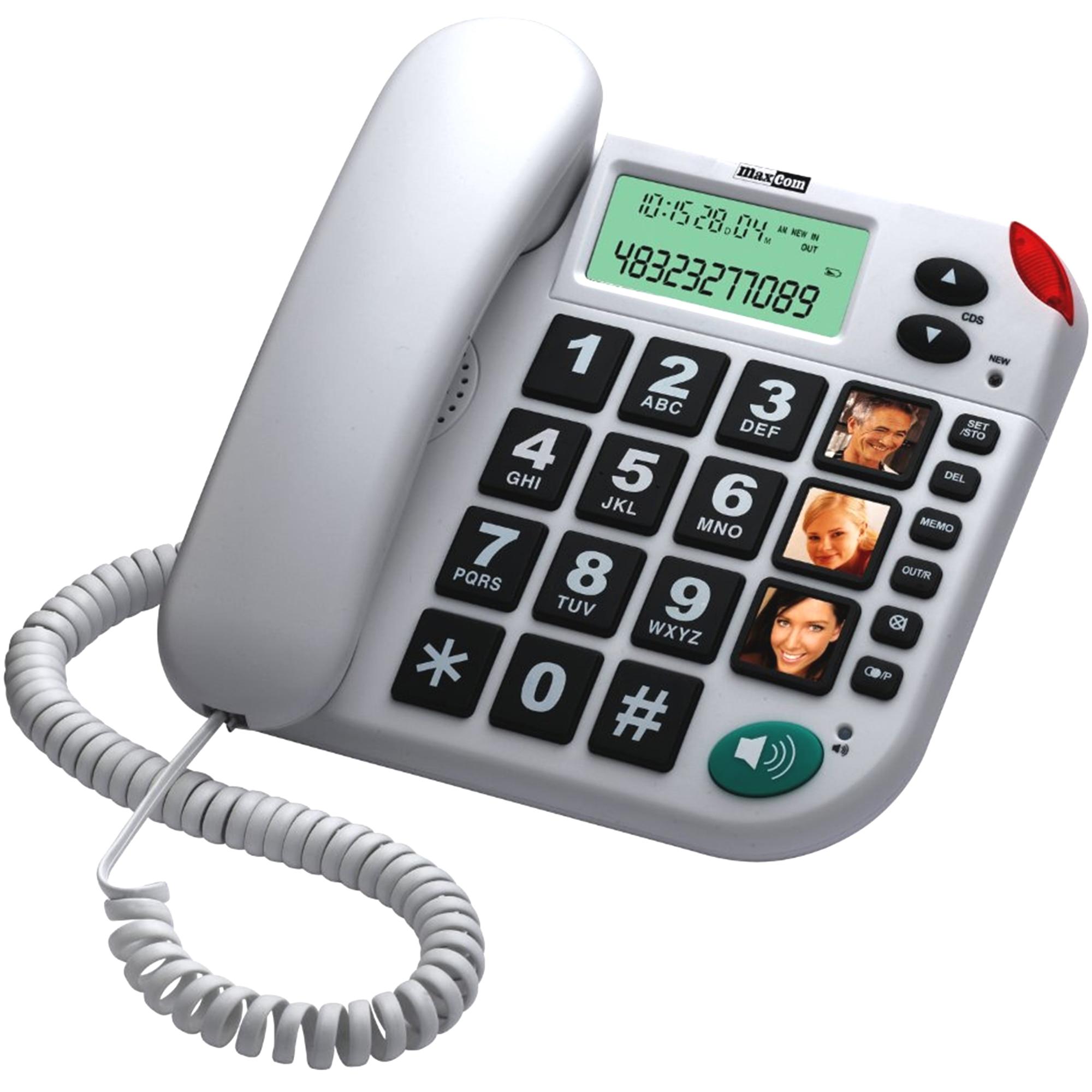 Fotografie Telefon fix cu fir MaxCom KXT480, Alb