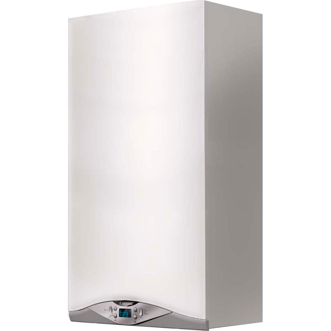 Fotografie Centrala termica murala in condensare Ariston Cares Premium 30 EU, Gaz, Tiraj fortat, 30 kW, Doua schimbatoare de caldura, Display digital, fara kit inclus